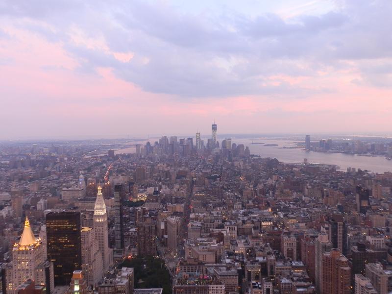 Vue sur manhattan depuis l'Empire State Building à New York