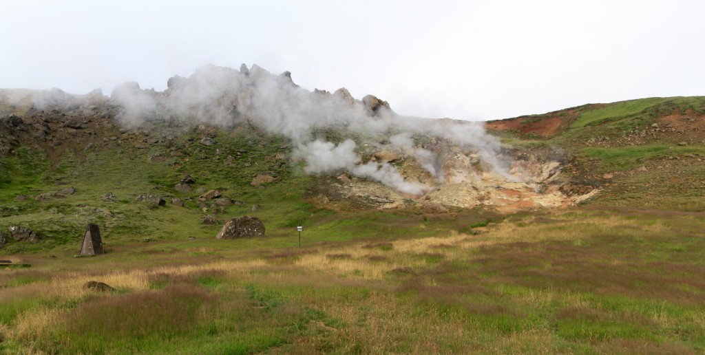 Fumerolle à Reykjadalur, Islande