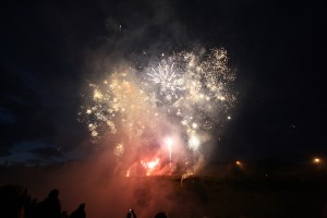 Feu d'artifice à la fête de Hveragerdi, Islande