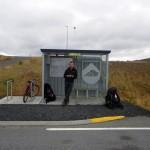 L'arrêt de car de Vogar en Islande...
