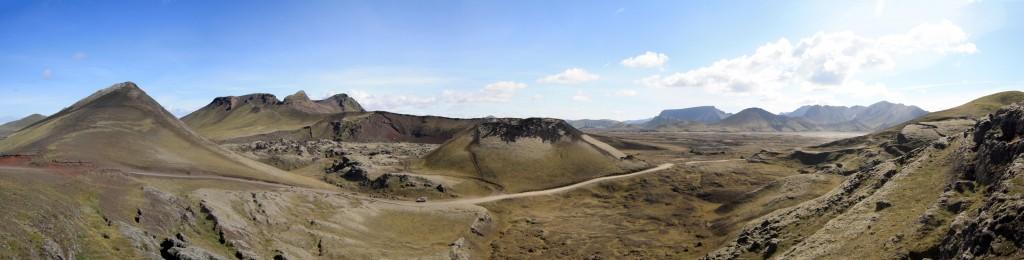 Paysage avant Landmannalaugar (Islande)
