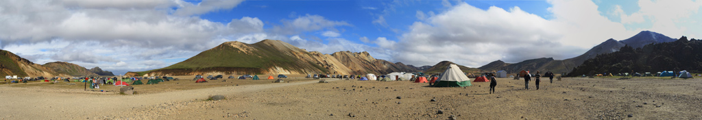 Camping de Landmannalaugar en Islande
