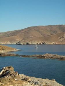 Bateau à Tinos en grèce - blog voyages