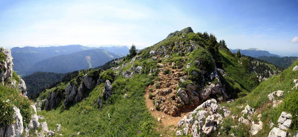 Arête qui mène au sommet du Grand Som, Massif de la Chartreuse