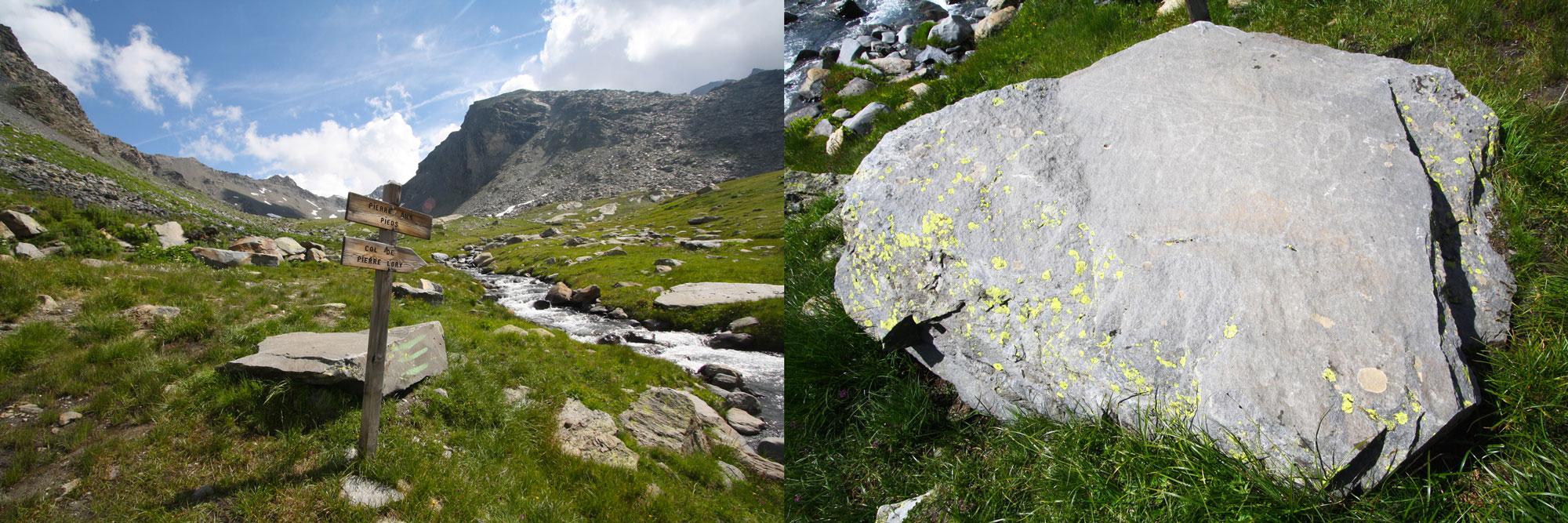 La Pierre aux Pieds - Plan du Bouchet Orelle Maurienne Vanoise