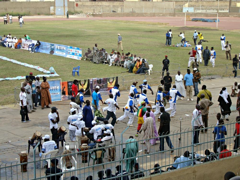 Danse lutte sénégalaise, Stade Demba Dip, Dakar Sénégal Afrique