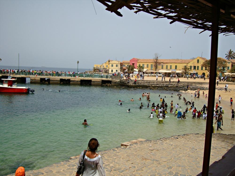 Débarcadère chaloupes Île de Gorée, Sénégal Afrique