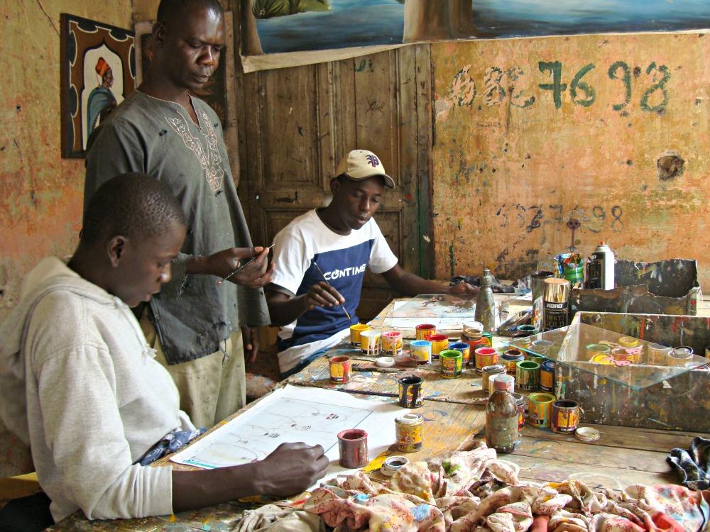 Ecole de peinture sur verre Soweto Dakar Sénégal Afrique
