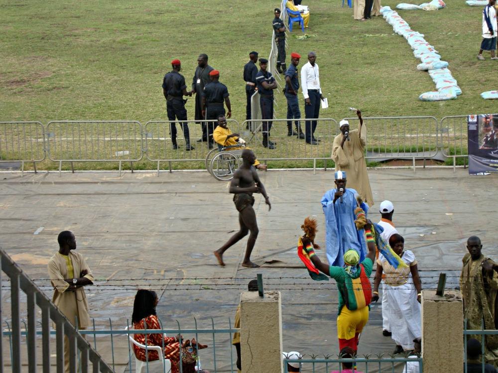 Lutteur prêt au combat Arène Demba Diop Dakar Sénégal Afrique