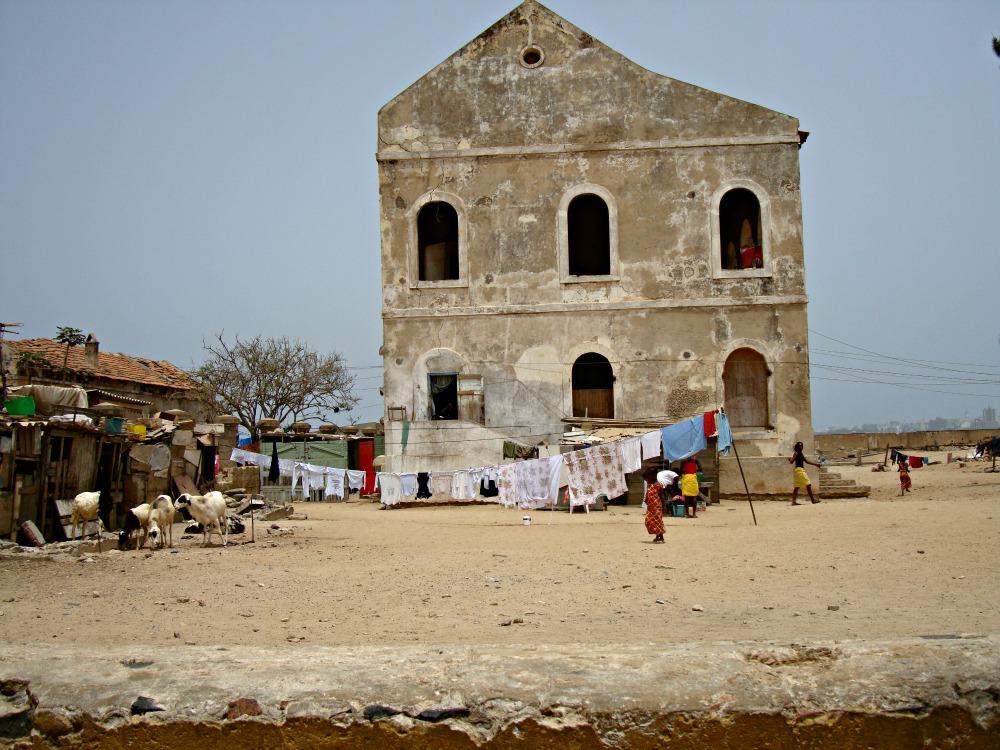 Maison abandonnée Île de Gorée Sénégal Afrique