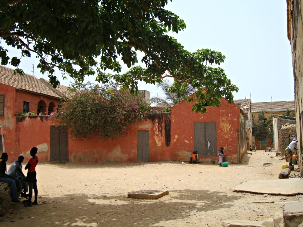 A l'ombre d'un baobab Île de Gorée Sénégal Afrique