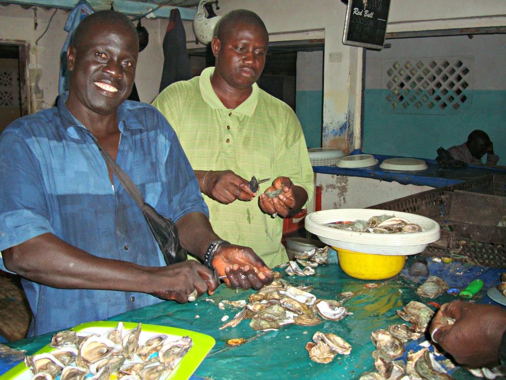 Fruits de mer huitre Almadies Dakar Sénégal Afrique