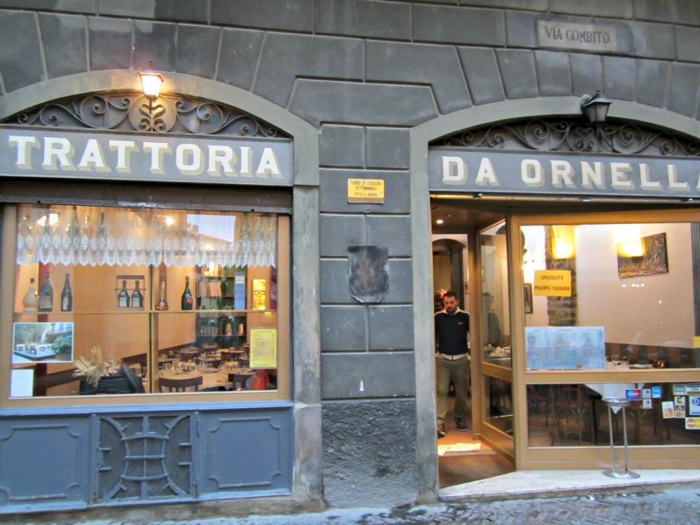 Trattoria Citta Alta Bergamo- Blog Voyage Trace Ta Route