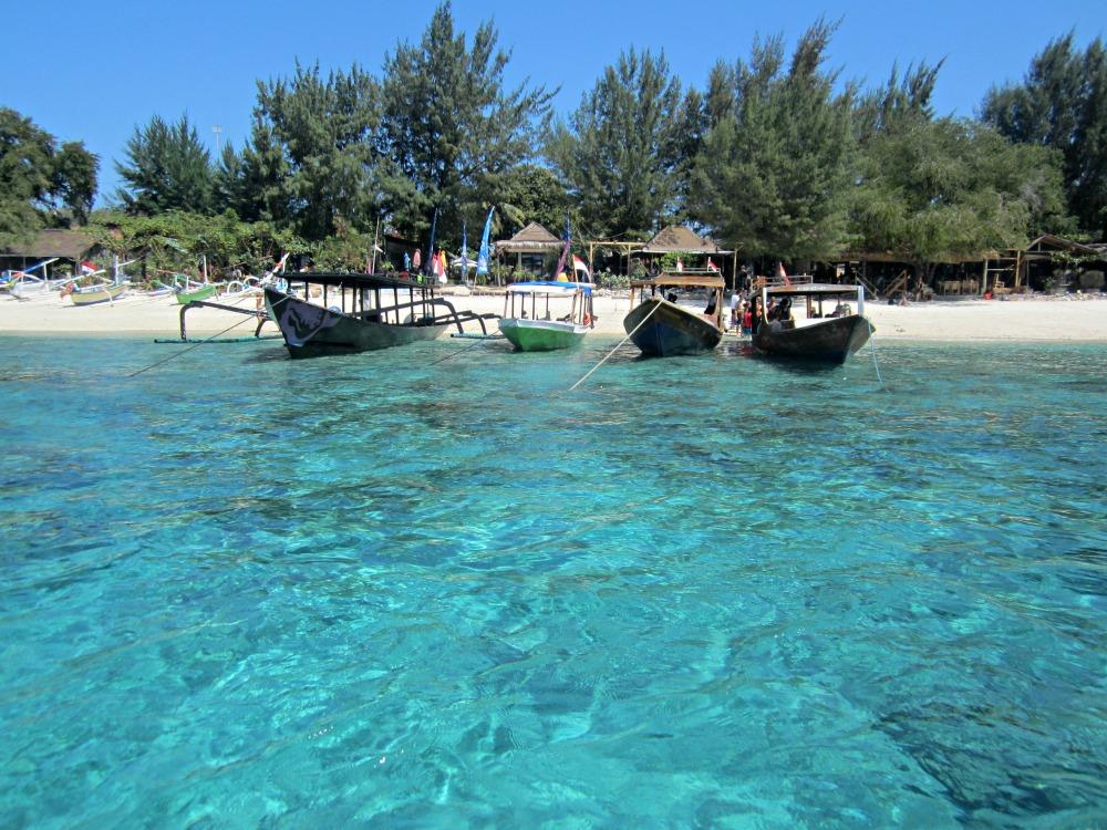 Bateaux à Gili Air, Bali