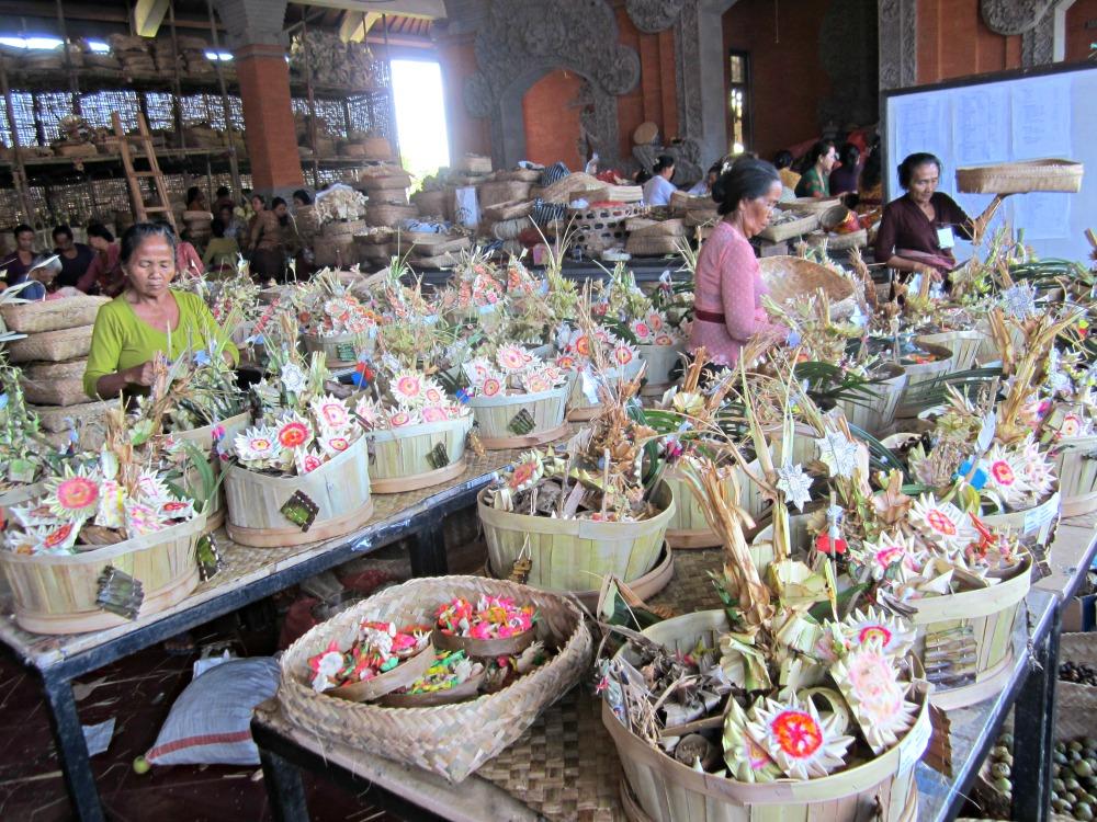 Marché des offrandes de Candikuning, Bali