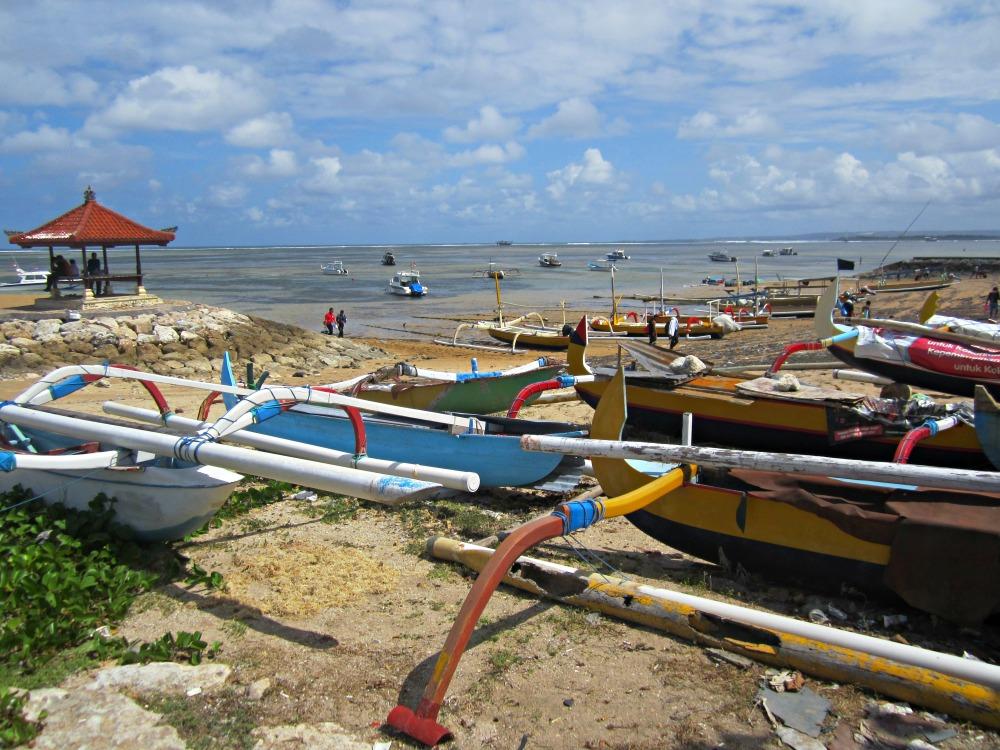 Plage de Sanur, au Sud de Bali