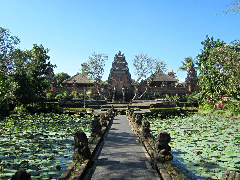 Pura du lotus à Ubud, Bali