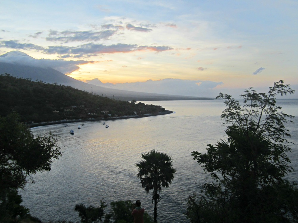 Coucher de soleil à Jemeluk, Bali