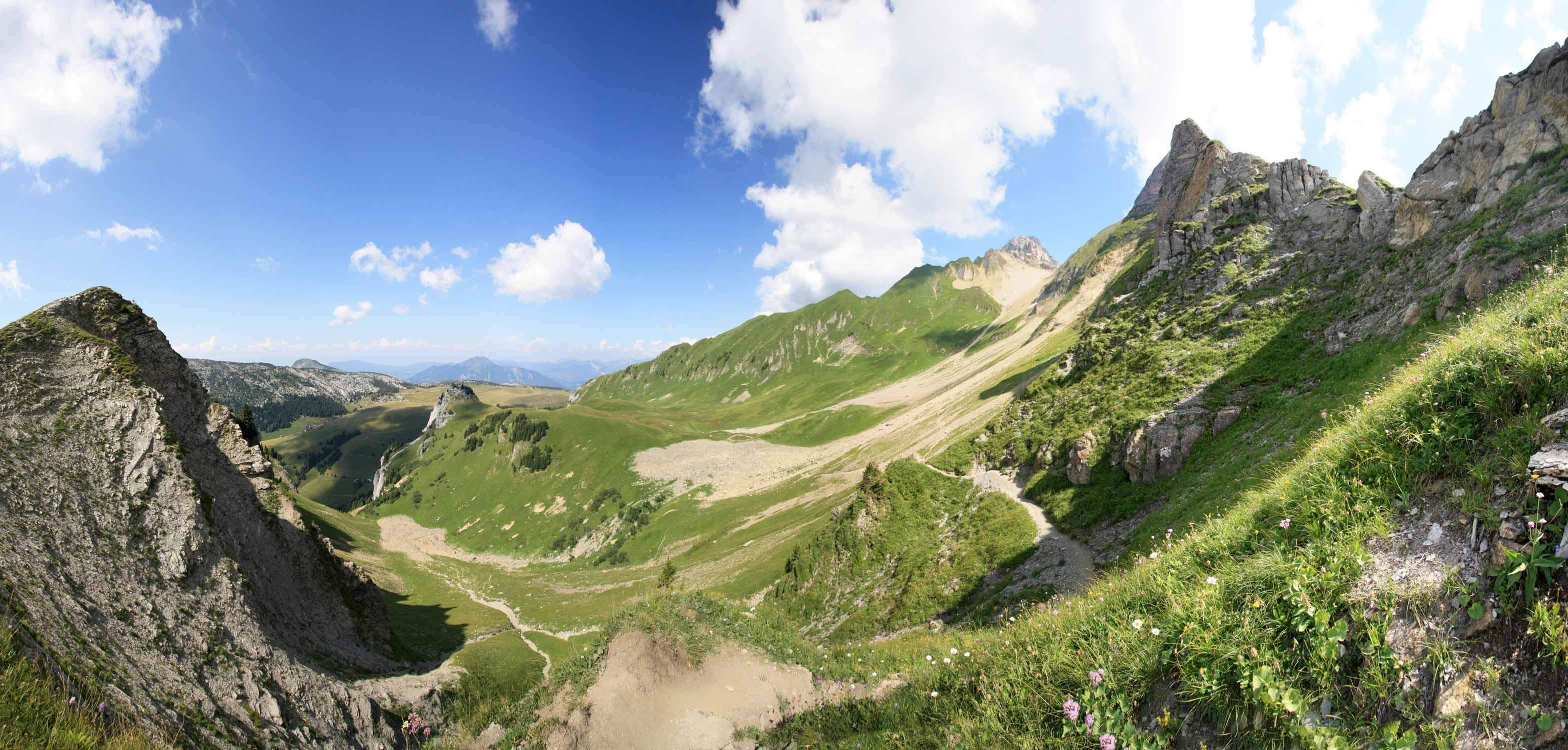 Pic de Jallouvre et Pointe Blanche depuis le Col de Sosay