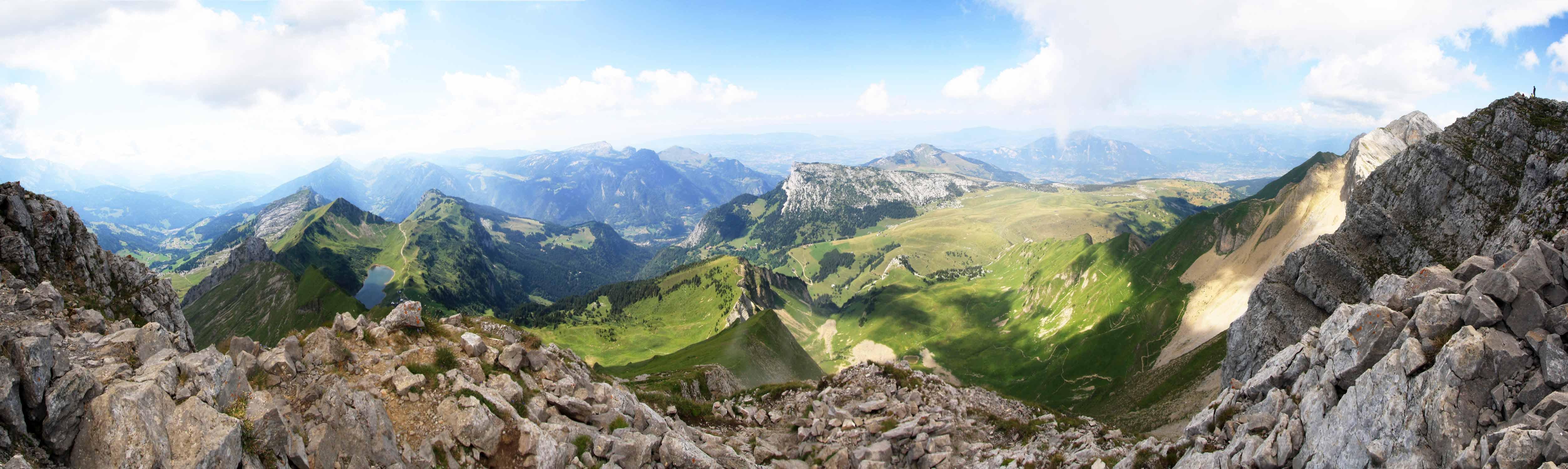 Vue Ouest depuis le Pic de Jallouvre