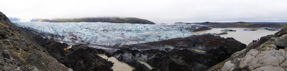 Glacier Svinafellsjokull (Skaftafell), Islande