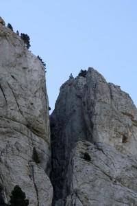 Mont Aiguille. 2e rappel.