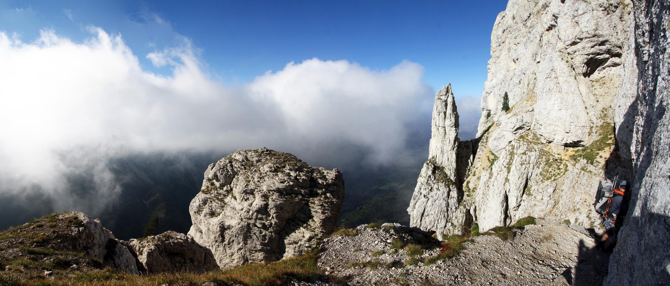 Ascension du Mont Aiguille par la voie normale