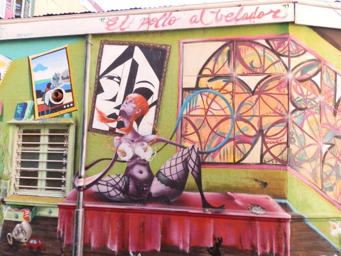 street art valparaiso ruelle chili blog voyage trace ta route