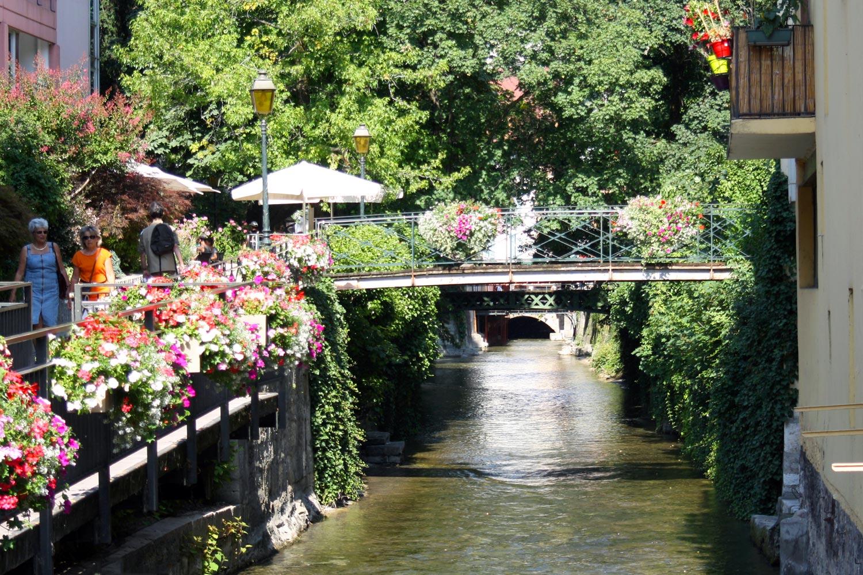 Le Canal du Thiou à Annecy