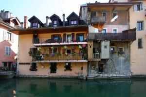 Le Canal du Thiou dans la Vieille Ville d'Annecy