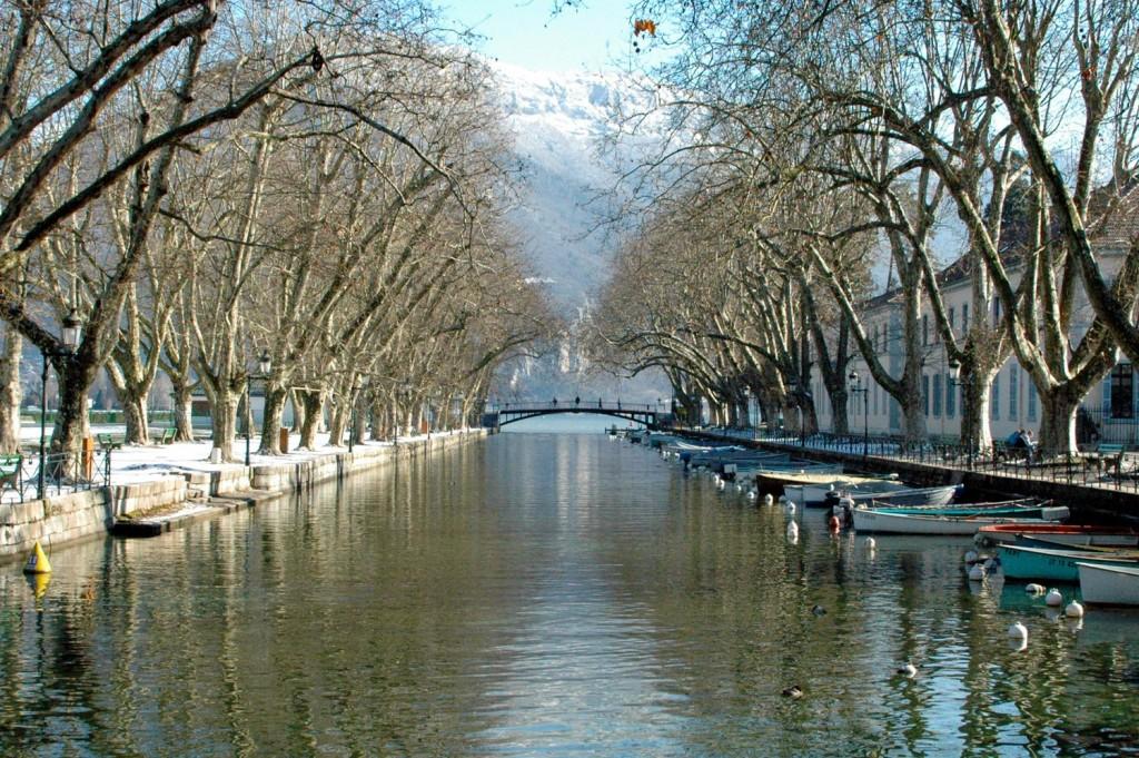 Le Pont des Amours, à Annecy