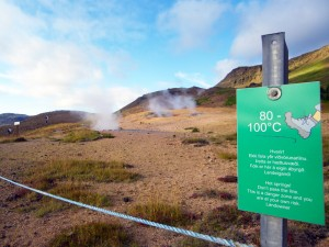 Fumerolles à Hveragerdi, Islande