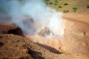 Marmite de boue en ébullition à Hveragerdi, Islande