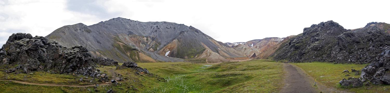 Randonnée Montagne Blahnukur Landmannalaugar Islande Paysage Iceland Islensk Wild Outdoor Hiking Mountain Landscape