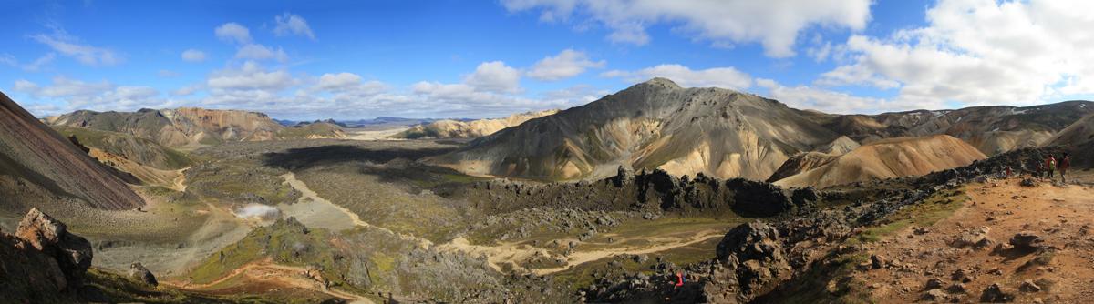 Paysage Montagne Brennisteisalda à Landmannalaugar, Islande