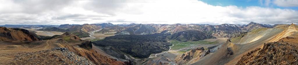 Laugarhraun depuis Sudurnamur à Landmannalaugar, Islande