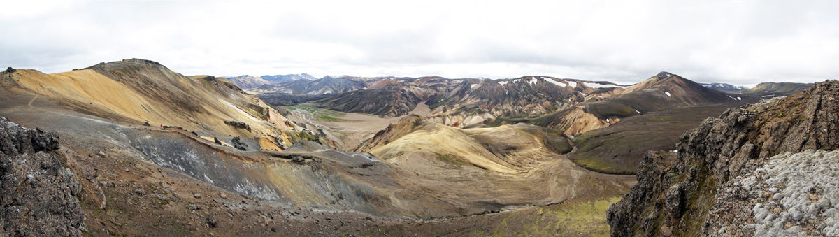 Vondugil depuis Sudurnamur à Landmannalaugar, Islande