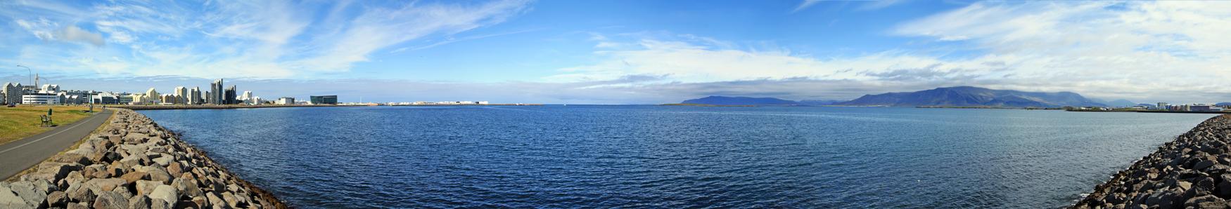 """La """"Baie des fumées"""" de Reykjavík (Islande)"""
