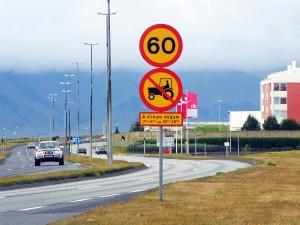 Panneau Route de Reykjavik, Islande