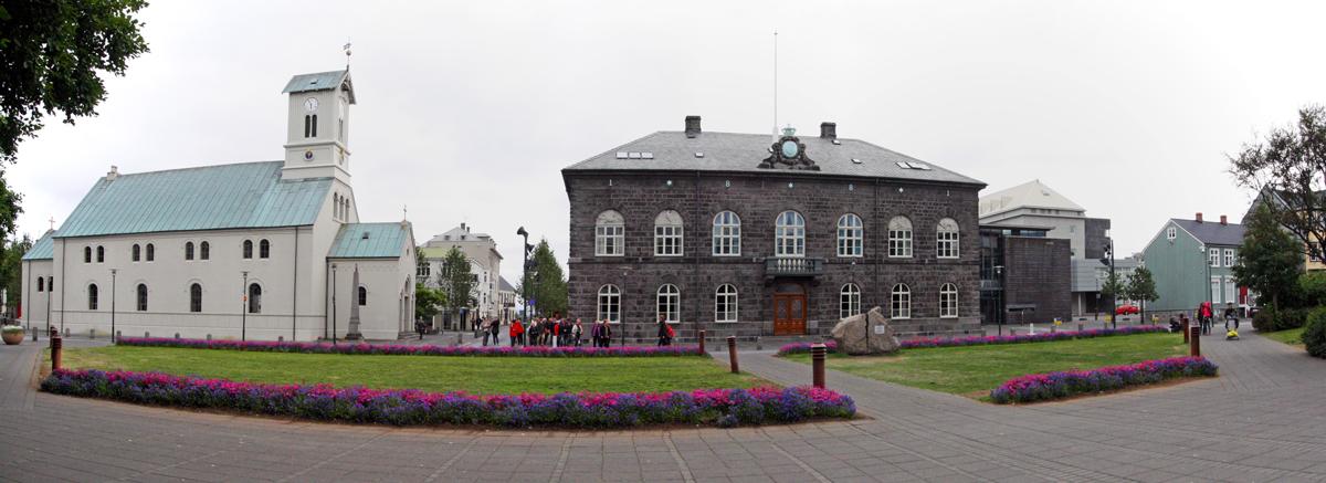 Domkirkjan et Maison d Parlement Althing à Reykjavik, Islande