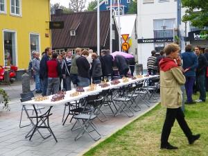 Place Ingolfstorg à Reykjavik, Islande