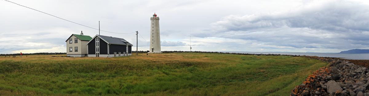 Phare de la presqu'île de Grotta, vers Reykjavik, Islande