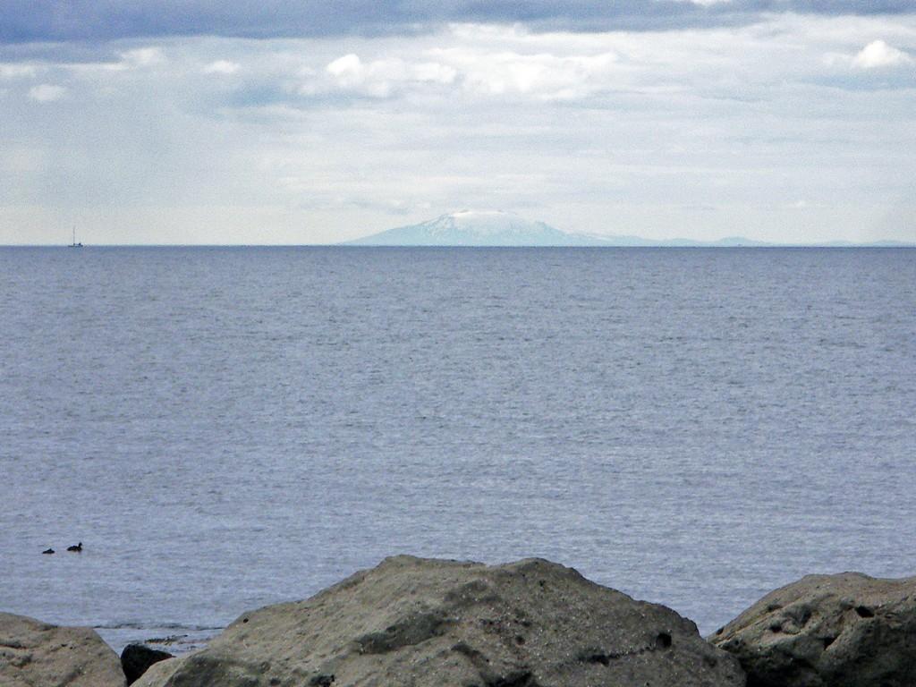 Snaefellsjokull depuis la presqu'île de Grotta, vers Reykjavik, Islande