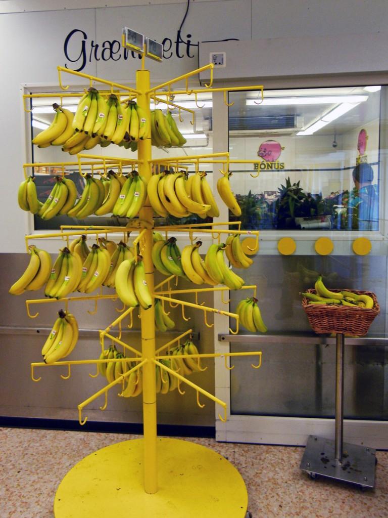Sapin de Bananes au Bonus de Reykjavik, Islande