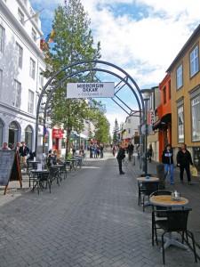Rue Skolavordustigur à Reykjavik, Islande