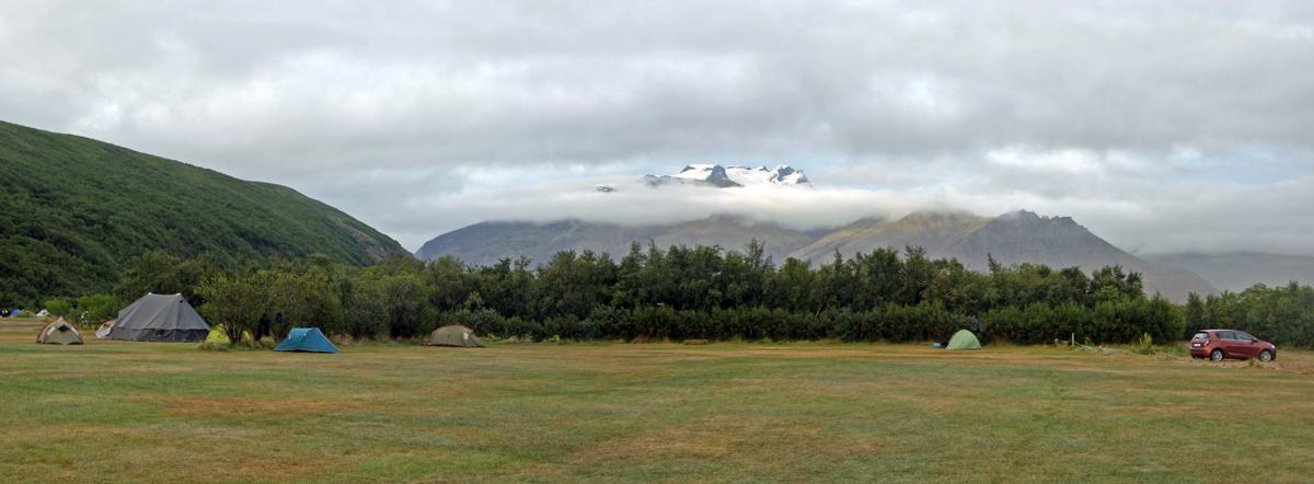Camping de Skaftafell, Islande