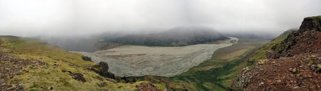 Plaine de Morsardalur depuis Fremrihnaukur (Skaftafell)