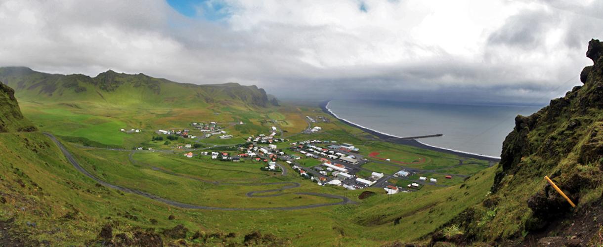 Vik i Myrdal depuis Reynisfjall, Islande