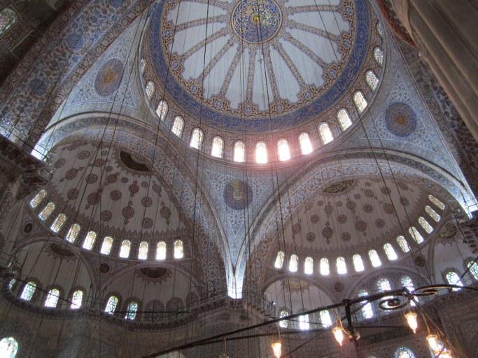 Mosaïque intérieur dans la Mosquée Bleue, Istanbul Turquie