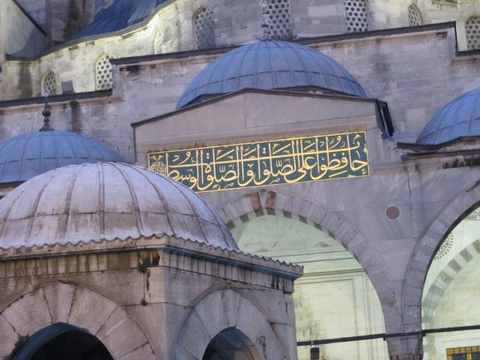 Dômes sur la Mosquée Bleue, Istanbul Turquie